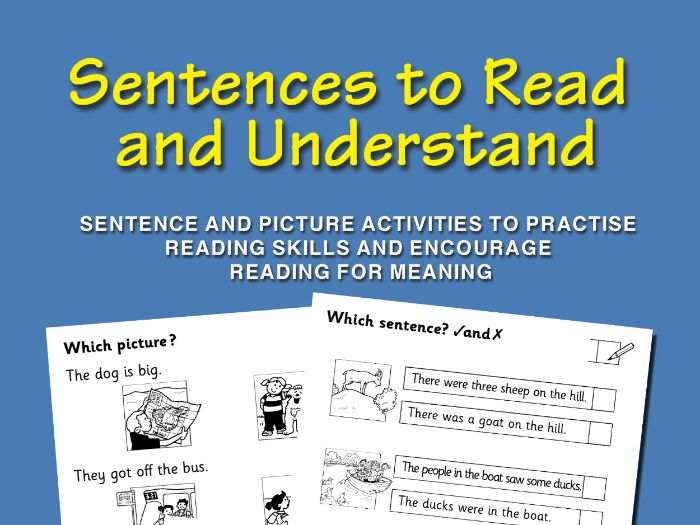 Sentences to Read and Understand