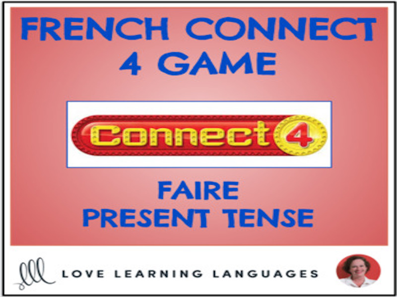 French Connect 4 Game - FAIRE - Present Tense
