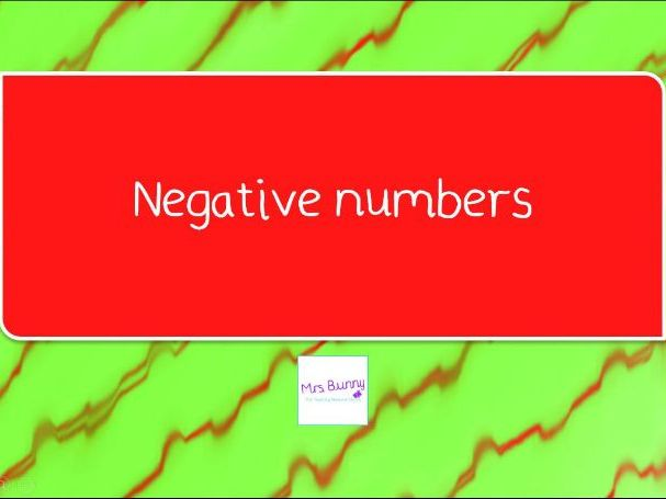 13. Negative numbers lesson pack (Y4 NPV)