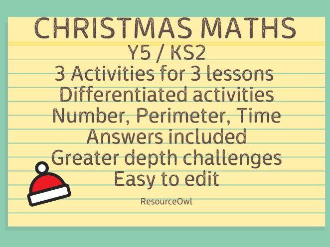 Christmas maths KS2