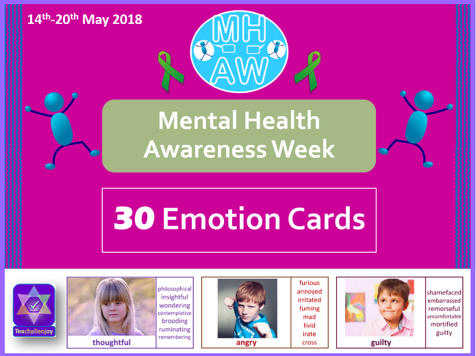 Mental Health Awareness Week Emotion Cards