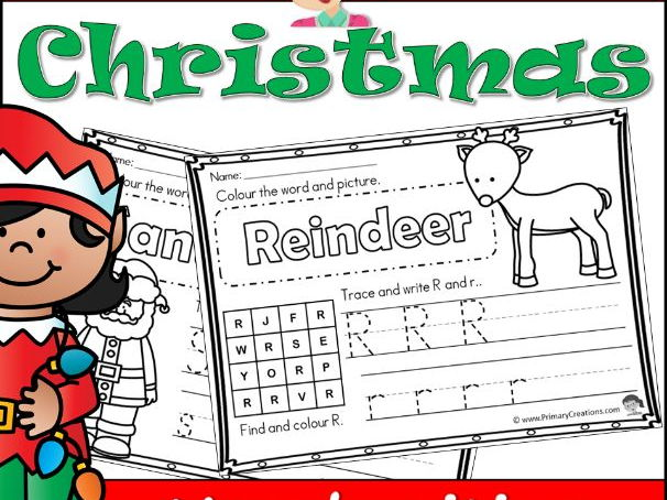 Christmas Holidays Handwriting Tracers PreK (USA Edition)