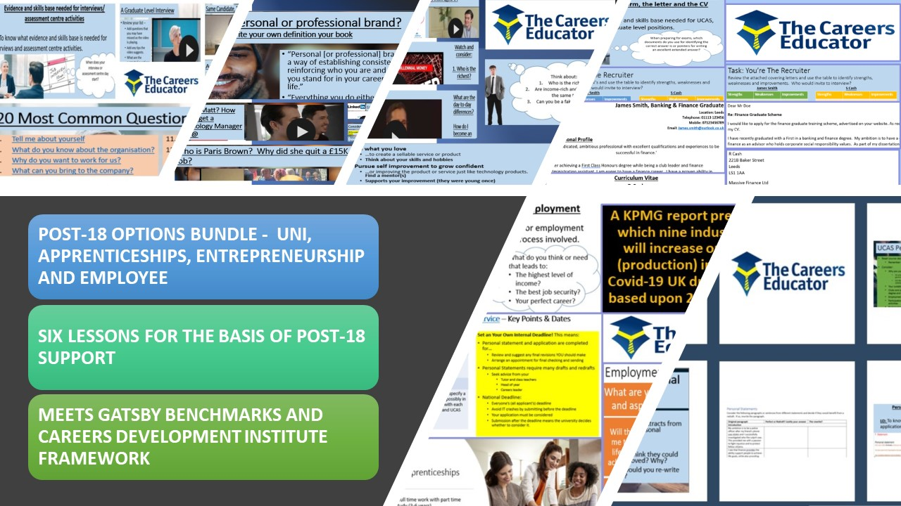 Careers - Post 18 Preparation for University, Apprenticeships and Employment