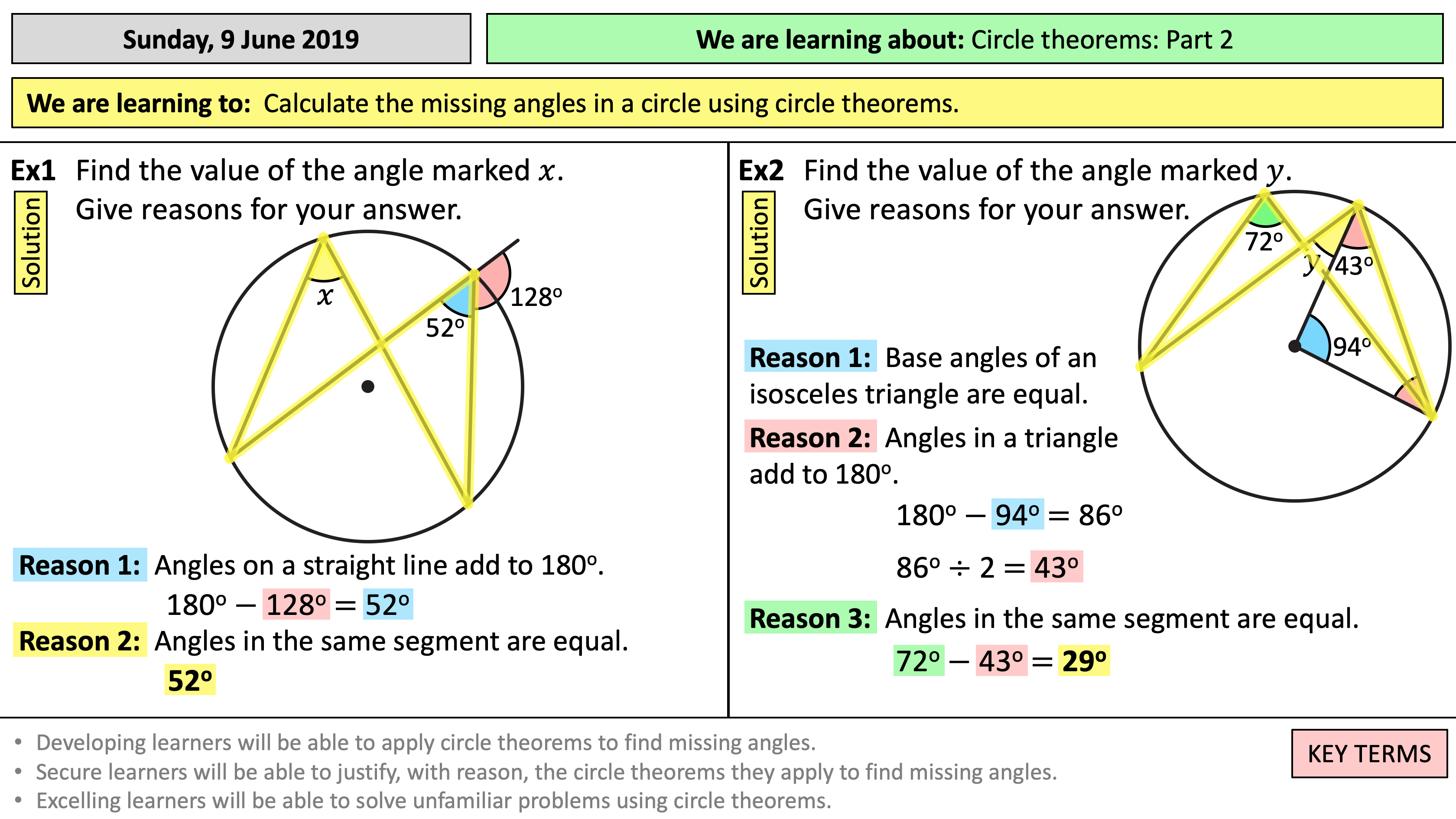Circle Theorems - Part 23 (of 23)  Teaching Resources Within Angles In A Circle Worksheet