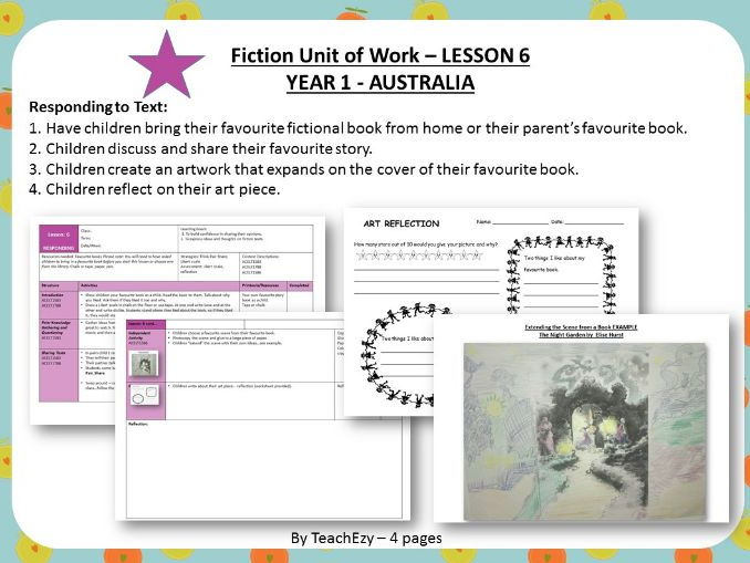 LESSON 6 Responding to Text - Fiction Year 1 Australian Curriculum