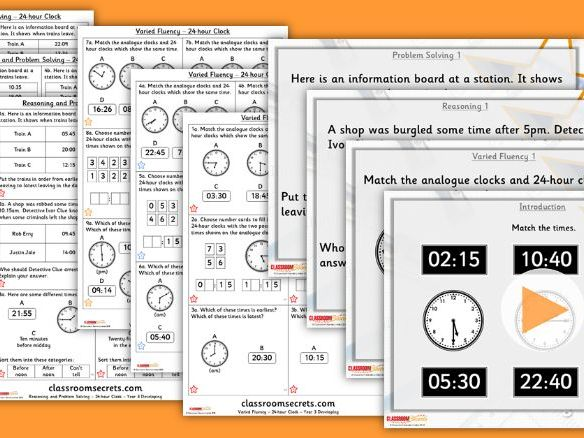 Year 3 24-Hour Clock Summer Block 2 Lesson Pack
