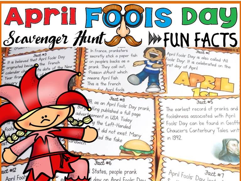 APRIL FOOLS DAY: SCAVENGER HUNT