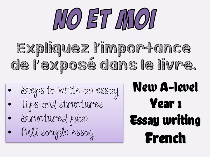 No et moi - Essay writing (1) - Full essay + tips - Year 1