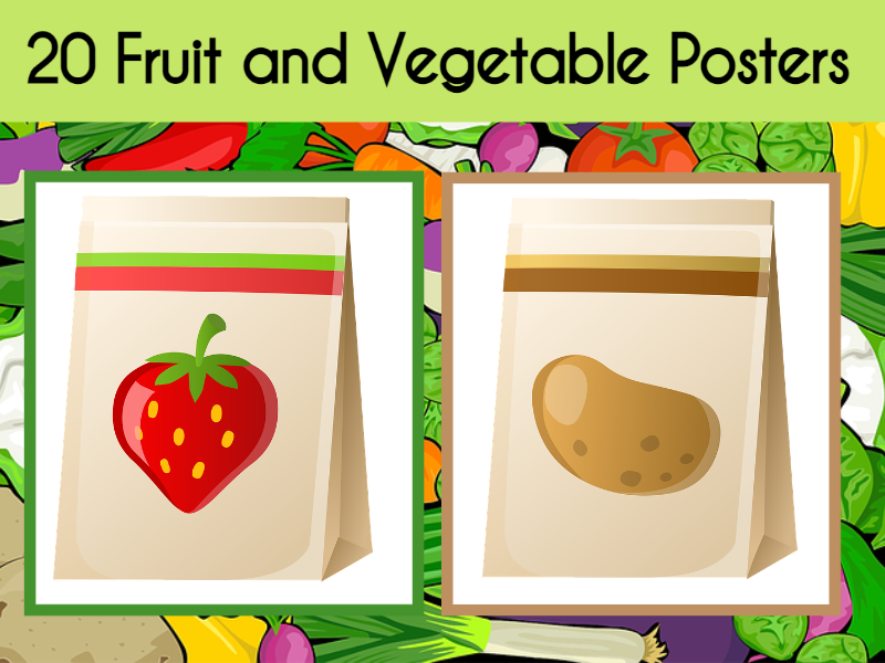 20 Fruit and Vegetable Posters
