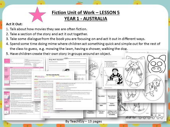 LESSON 5 Act it Out - Fiction Year 1 Australian Curriculum