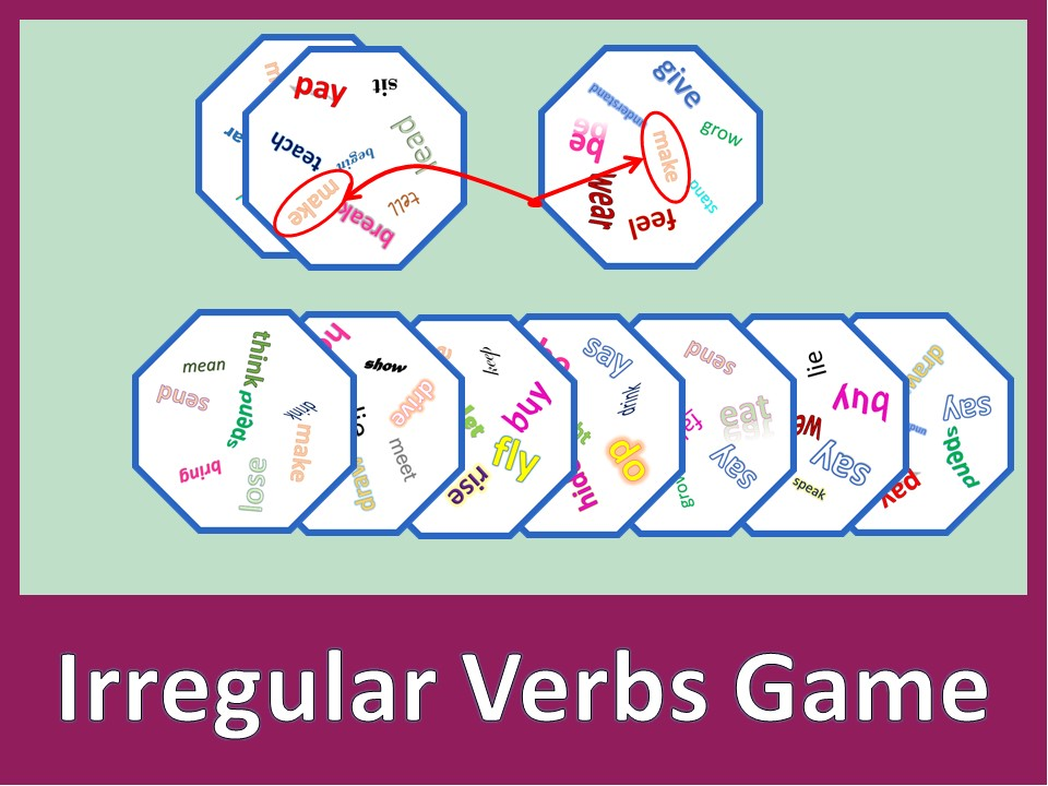 Irregular Verbs Dobble