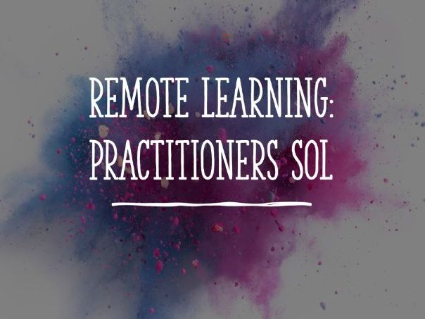 Online Learning: Practitioners SoL for KS3 Drama