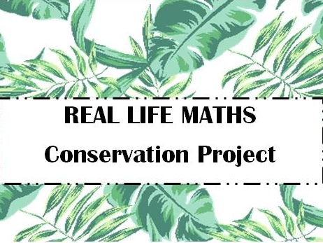 AFTER SATS Summer Year 5/6 Let's Be Conservationists REAL LIFE MATHS (including mastery)