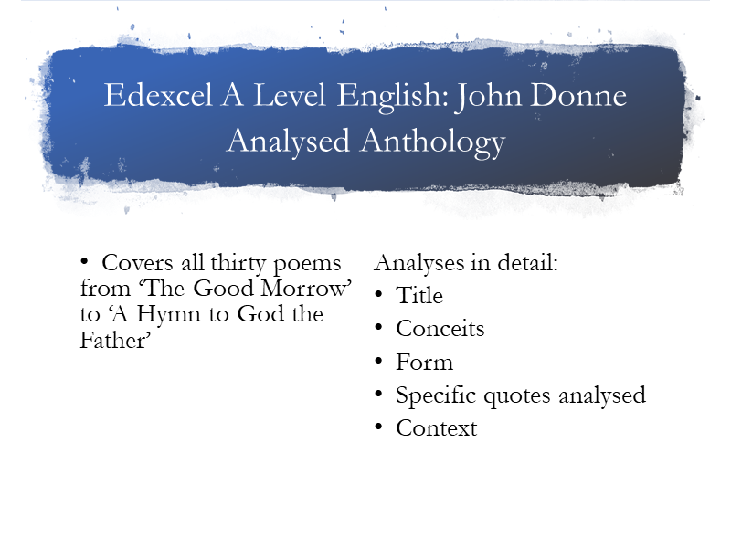 Edexcel A Level John Donne Anthology
