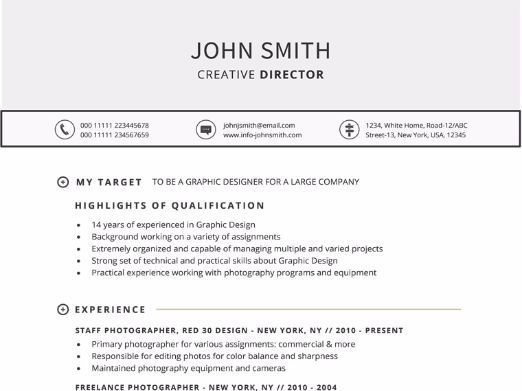 Targeted Resume Template For Word