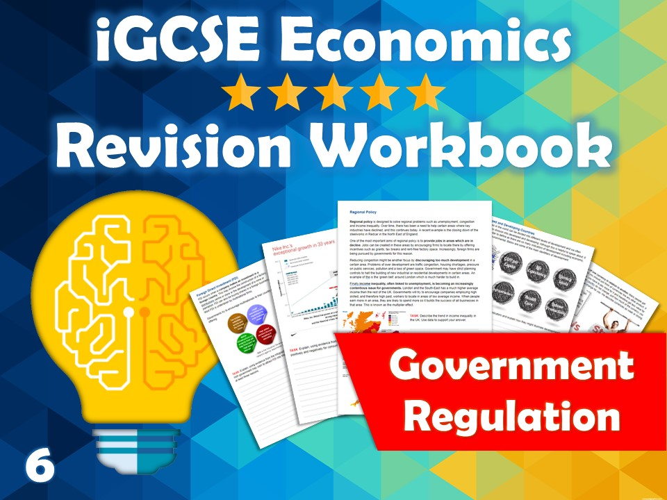 Government Regulation Revision Guide / Workbook - iGCSE Economics - Regional Pol. & Promoting Comp..
