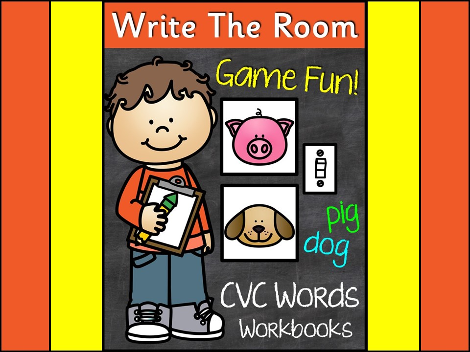 CVC Words Write The Room Game