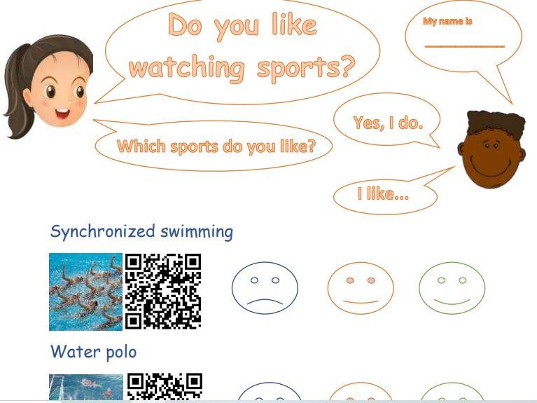 Maths sorting, Bingo, QR code technology (ICT) Sports themed pack