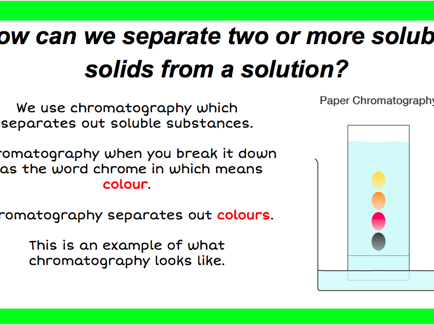 Chromatography - Online Learning - KS3 / KS4
