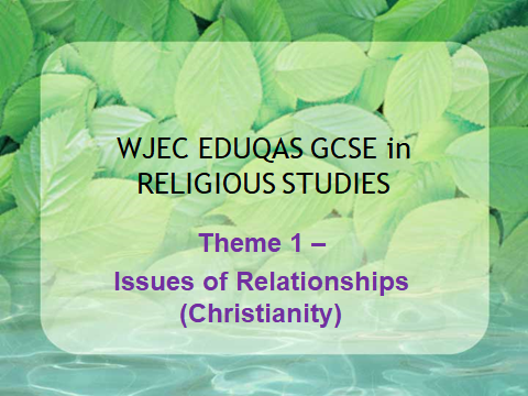 WJEC EDUQAS GCSE Religious Studies Theme 1 - Issues of Relationships - Christianity