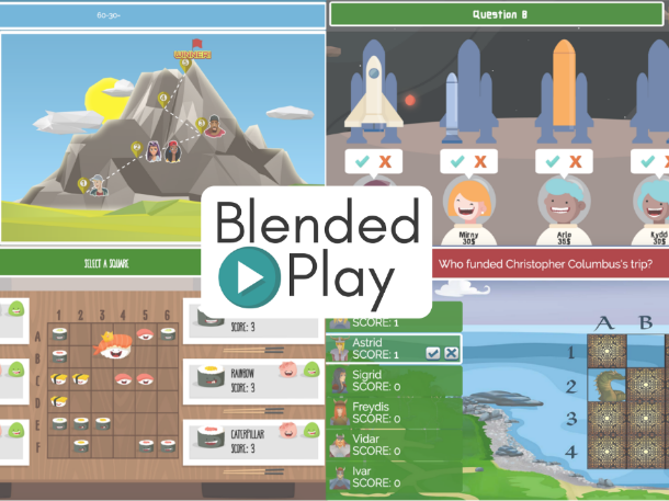 Blended Play: Free online games for the classroom using YOUR content!