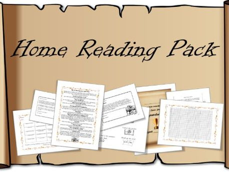 Home Reading Resource Pack – certificate, chart, parents letter, challenge, poster