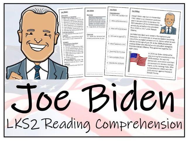 LKS2 - Joe Biden Reading Comprehension Activity