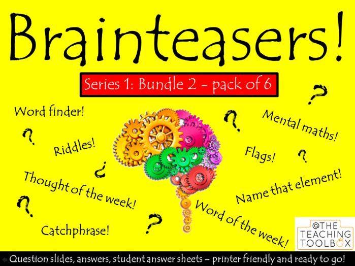 Brainteasers - Series 1 - Bundle 2 -  Form / Tutor Time Quiz Activity