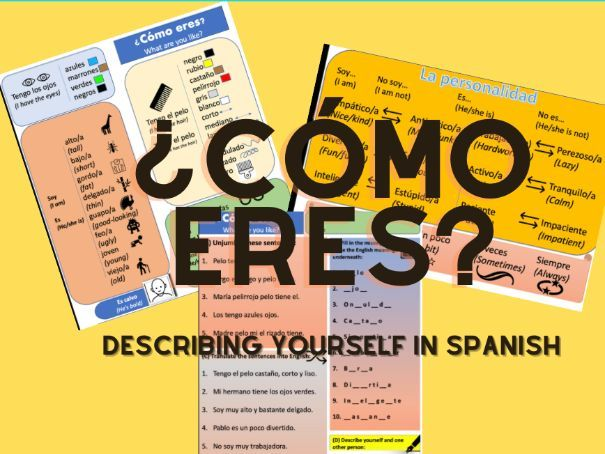 Spanish Cómo Eres Knowledge Organiser
