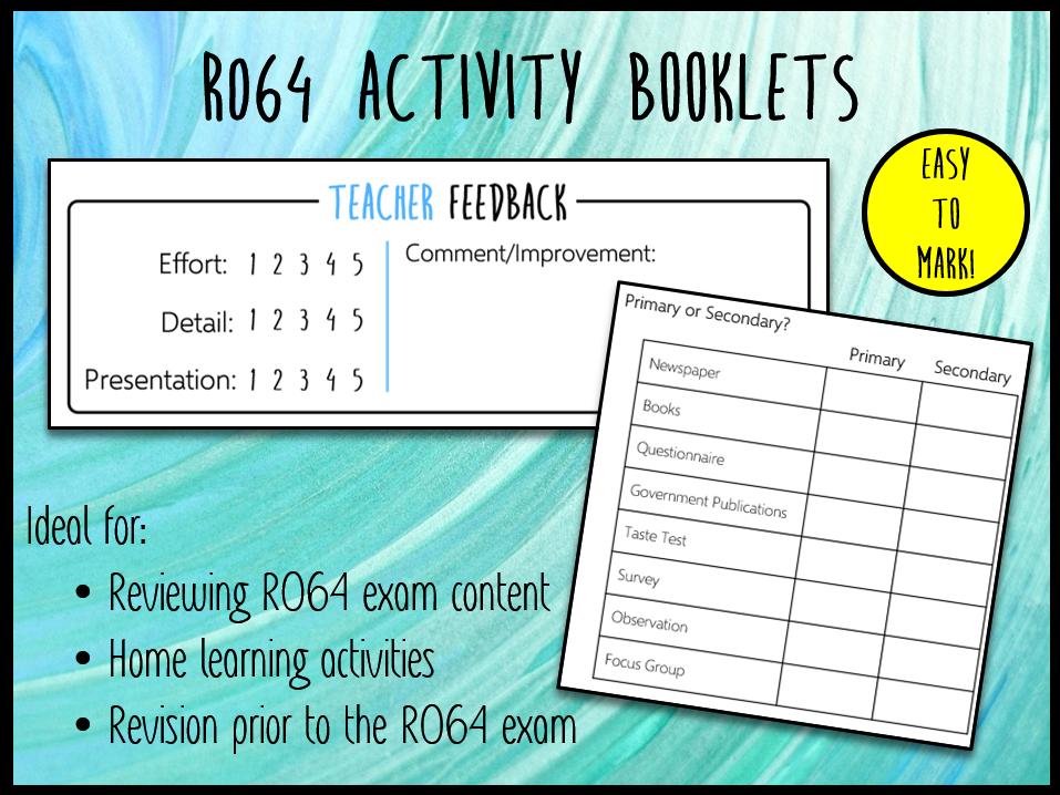 LO1 R064 Activity Booklet - Ideal Homework! (Cambridge National in Enterprise & Marketing)