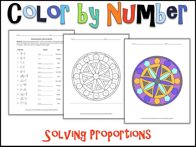 Solving Proportions Color by Number