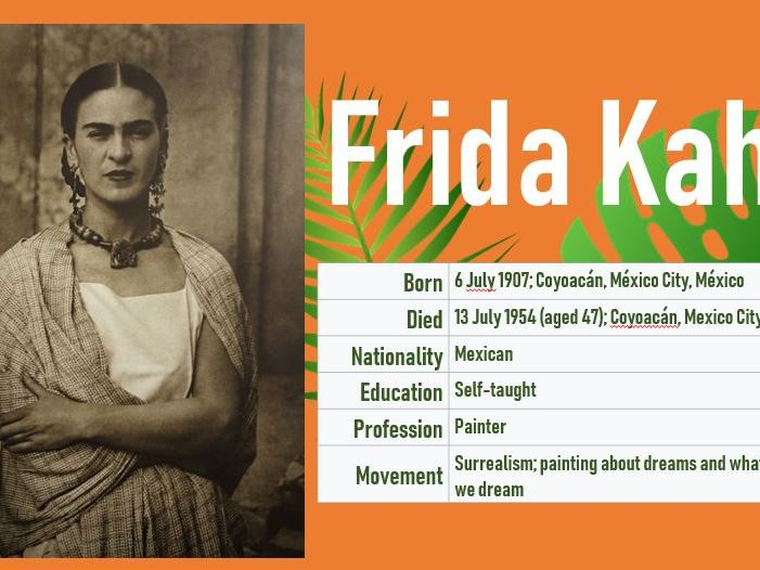 Frida Kahlo Self-Portrait  PPT KS1/2