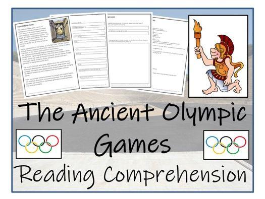 UKS2 History - Ancient Olympics Reading Comprehension Activity