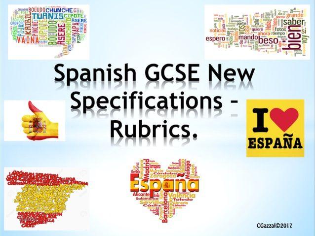 Spanish GCSE Exam Rubrics- New Specifications.