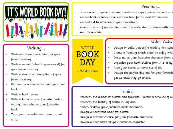 World Book Day Tasks