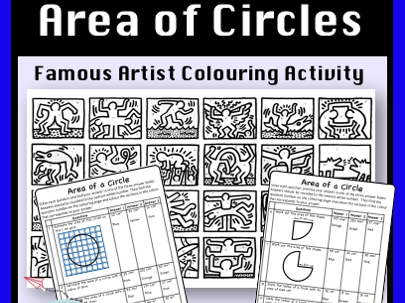 Area of Circles - Colour by Number Activity