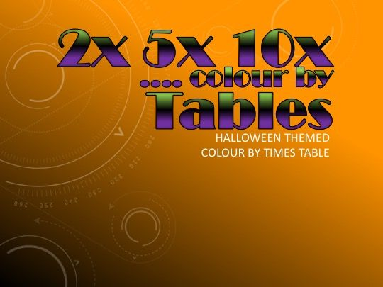 2x, 5x, 10x table Halloween Bundle