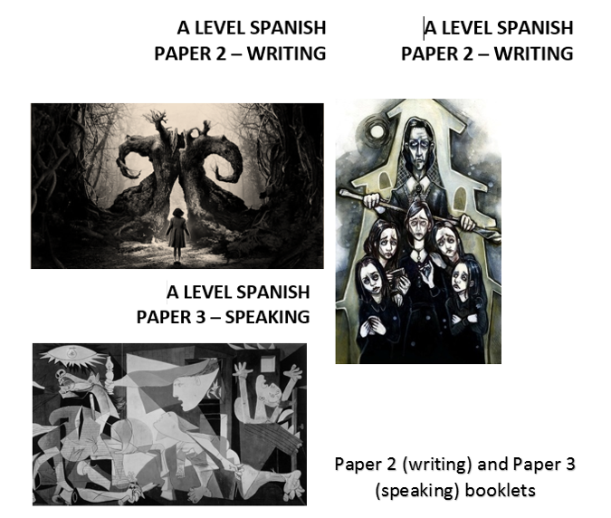 Spanish A Level Paper 2 (writing) Paper 3 (speaking) and Grammar Support pack