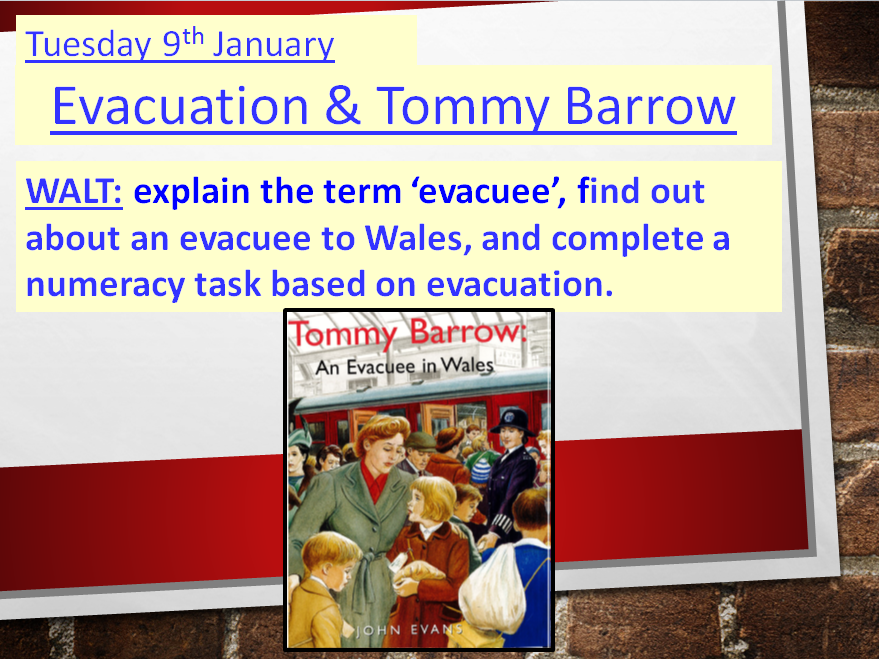 Tommy Barrow ~ An Evacuee ~ A Ready-to-use lesson **NEW & UPDATED**