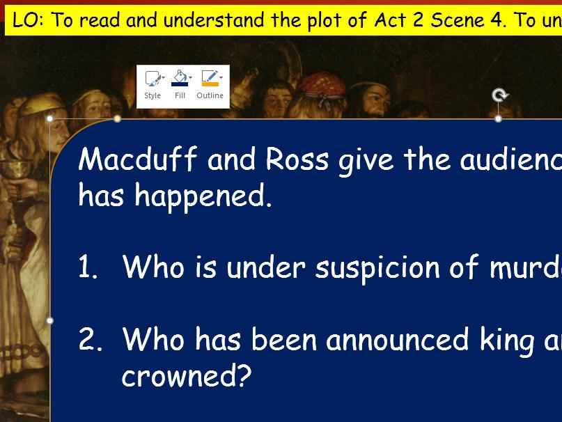 KS4 GCSE Macbeth Act 2 Resources
