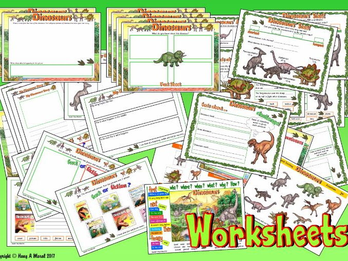 Dinosaurs KS1 – Worksheets