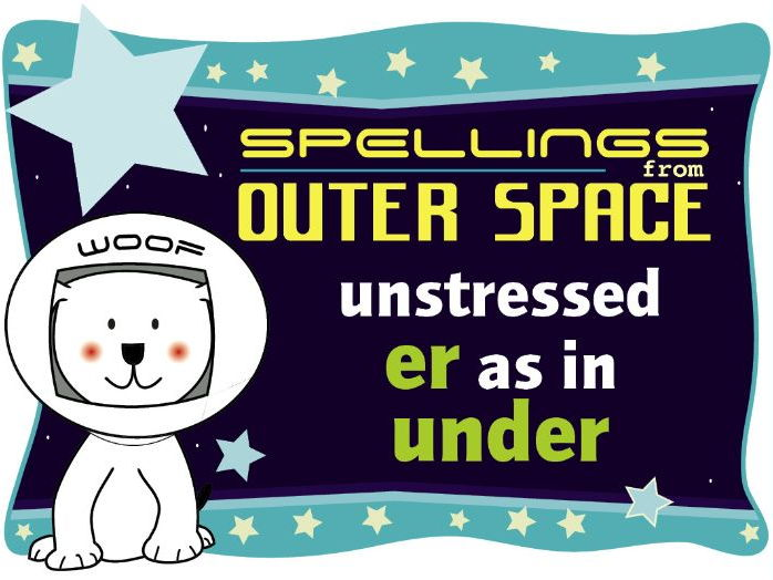 Year 1 Spellings from Outer Space: Unstressed ER as in UNDER