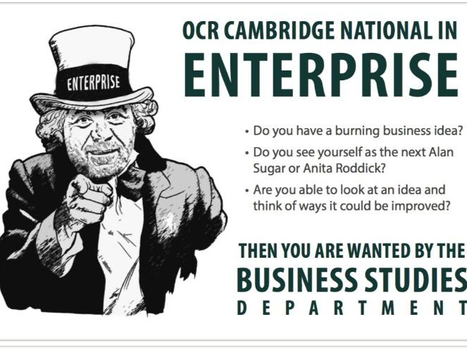 Edexcel GCSE Business / OCR Cambridge Tech Enterprise and Marketing - Options Postcards