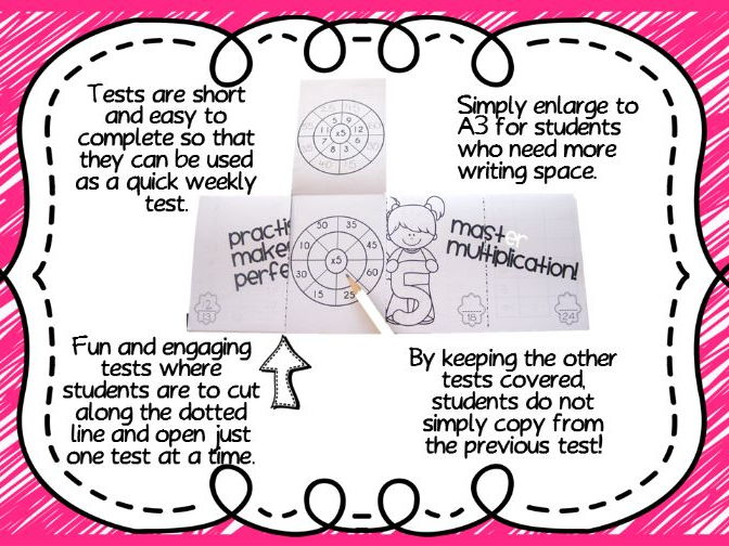 Mastering Multiplication! Times Tables Printable & Foldable Tests