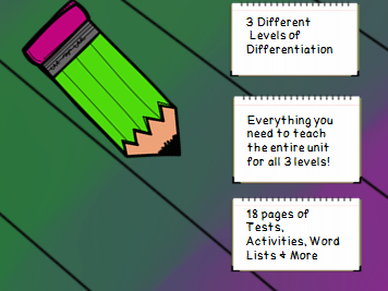 Year 3 Spelling Unit Long U Patterns- 3 Different Levels of Differentiation - 1 Full Week of Lessons