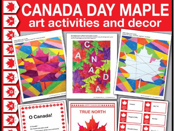 Fun Celebrate Canada Day 1st July  Maple Leaf Bumper Art Activities & Classroom Decor
