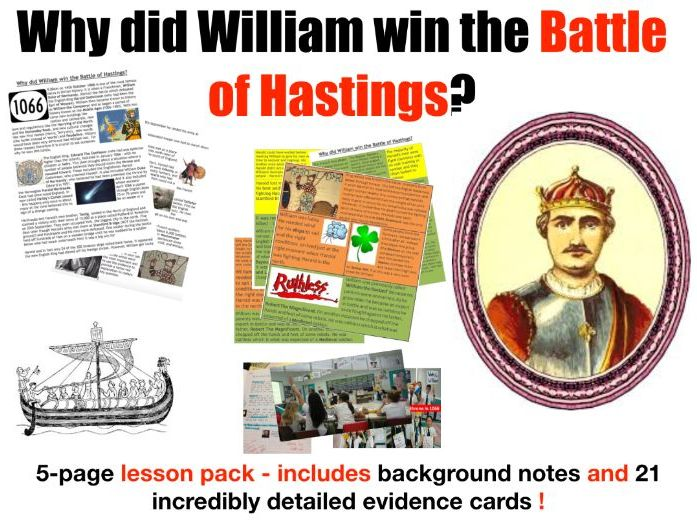 Battle of Hastings - 5 page lesson pack