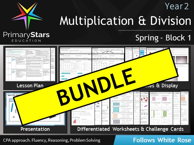 Year 2 - White Rose - Multiplication & Division - Block 1 - Spring BUNDLE