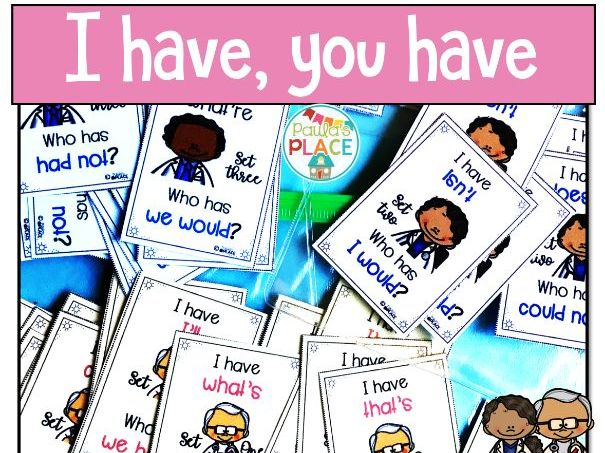 Contractions I have Who Has Cards