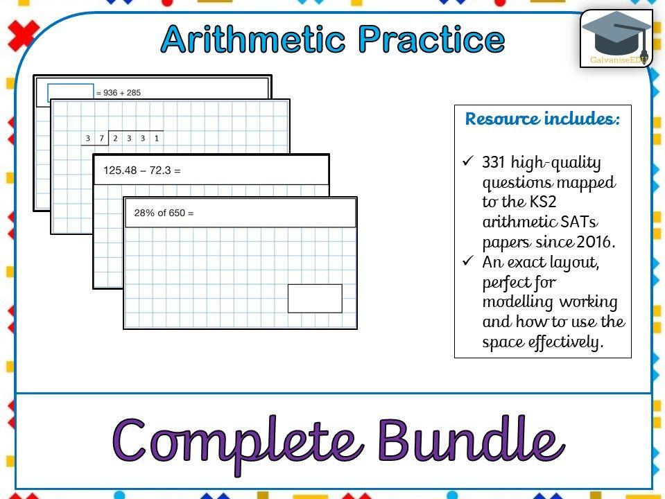KS2 SATs Arithmetic Practice - Complete Bundle